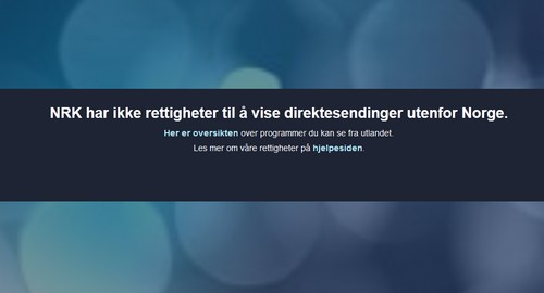 NRK live stream from abroad