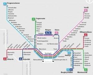 Metro map Oslo