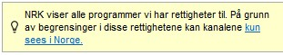 nrk har ikke rettigheter
